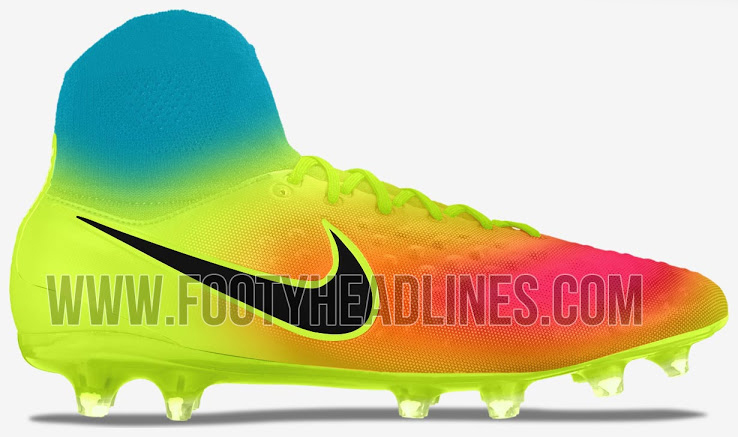 promo code 54c0c 72825 2016 Billiga Fotbollsskor Nike Magista Obra II Volt Total Orange Rosa Blast  Svart