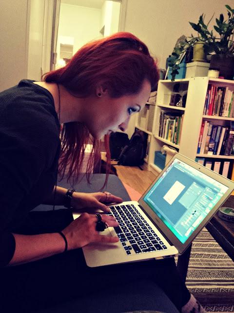 Grønt entreprenørskap: Maria redigerer bilder, og det er ikke bare lett