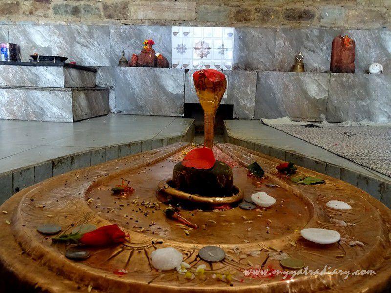 Shiva Lingam at Kasar Devi Temple shrine, Uttarakhand
