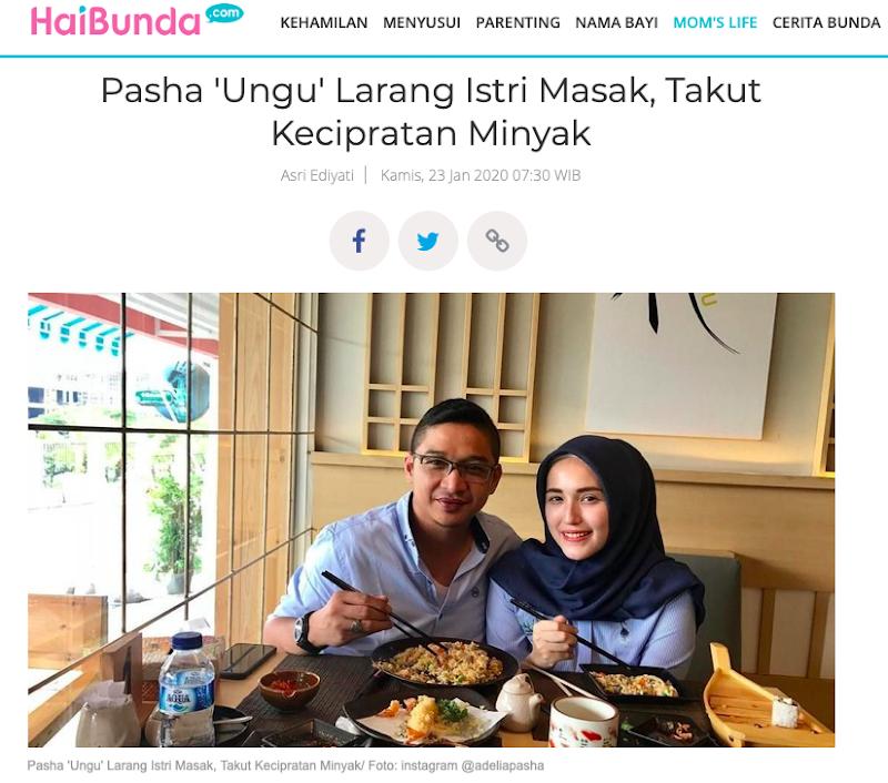 Fenomena Pasha Ungu Larang Istri Masak, Takut Kecipratan Minyak, Apa Hikmah Yang Bisa Kita Petik?