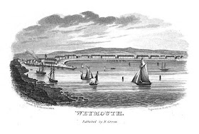 Weymouth bay  from Weymouth and Melcombe Regis New Guide  by E Groves (1835)
