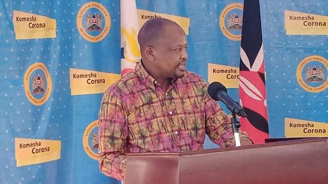 CS Health Mutahi Kagwe on daily COVID-19 briefings in Mombasa Photos