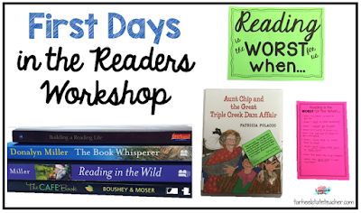 Launching the readers workshop can be a daunting task, but you can instill a love of reading in your upper elementary students with the tips in this blog post. You'll get specific examples of what to do on the first day of school (or the first day you decide to start), as well as book choice ideas, stories to share, and more! Your 2nd, 3rd, 4th, 5th, and 6th grade classroom students are going to learn so much when you share the real highs AND lows of reading. Click through for all the details!