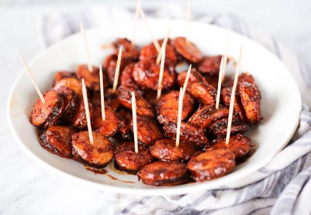 BBQ Smoked Sausage Bites #sausage #appetizers
