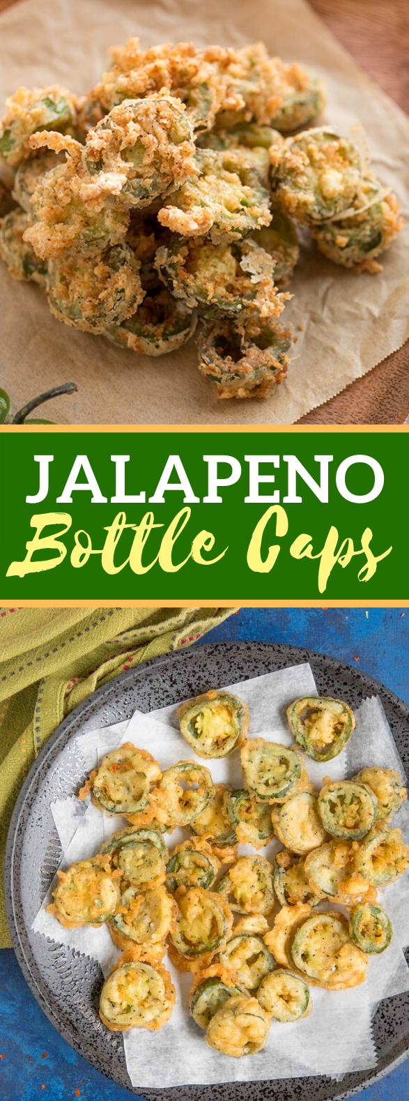 JALAPENO BOTTLE CAPS #appetizers #vegetarian