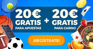 paston bono registro sin deposito 20€ deportes y 20€ casino