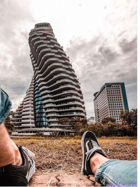 Ảnh chụp check -in ngoại cảnh tháp Tao Zhu Yin Yuan