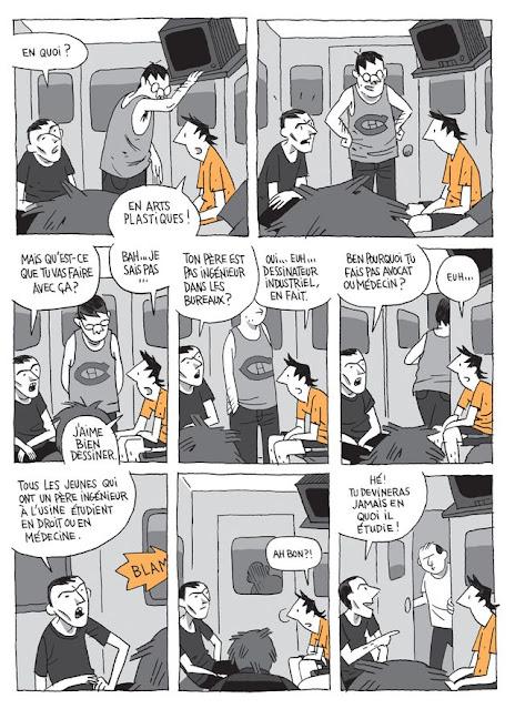"""page de """"CHRONIQUES DE JEUNESSE"""" de Guy Delisle chez Delcourt"""