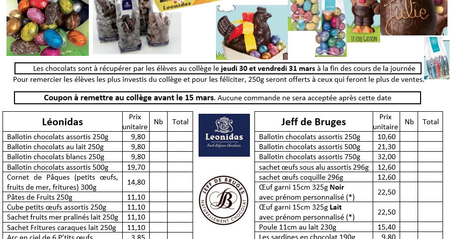 FSE du collège Janusz Korczak: Chocolats de Pâques 2017 pour le FSE