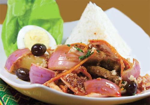 Escabeche de quinua con pescado