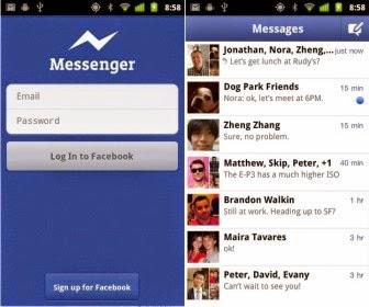 Đăng nhập facebook messenger