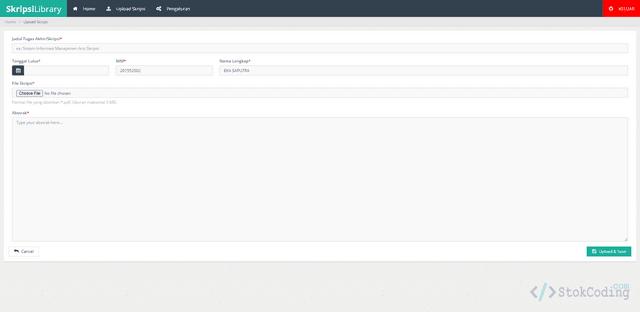 Aplikasi Perpustakaan Skripsi Berbasis Web (PHP)