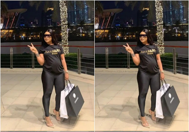 Is she Pregnant???- Fans reacts the new photo of Laura Ikeji