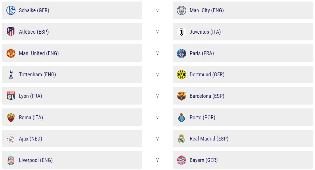Champions-League-last-sixteen-draw-results
