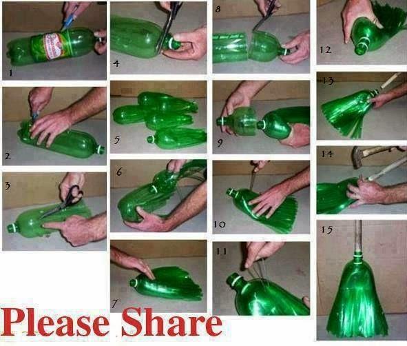 DIY Penyapu Daripada Botol Plastik Minuman