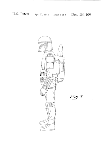 The design patent that George Lucas had on the Boba Fett action figure. Upon obtaining this patent, did George Lucas monopolize the entire toy industry? Could no one else make dolls?