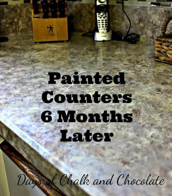 Painted Countertops 6 Months Later
