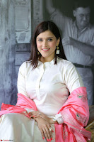 Mannara Chopra in Silky White Salwar Suit with Pink Chunni Latest Exclusive Pics March 2017 ~  010.JPG