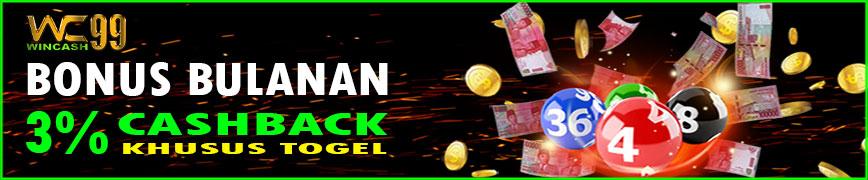 Bonus Cashback 3% Togel Wincash99