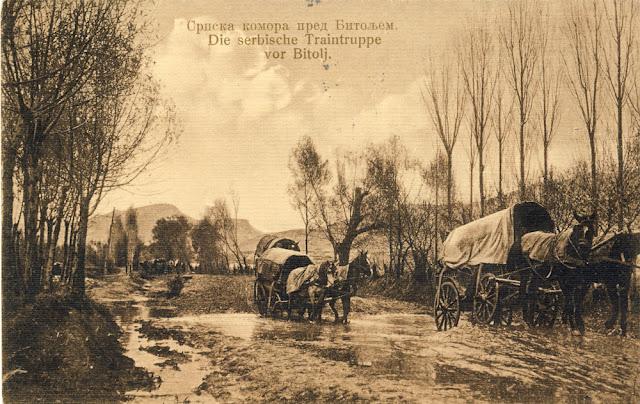 Serbian army unit near Bitola - During the Balkan Wars