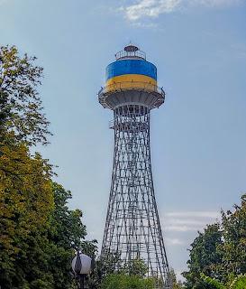 Черкассы. Водонапорная башня инженера Шухова на территории водоканала