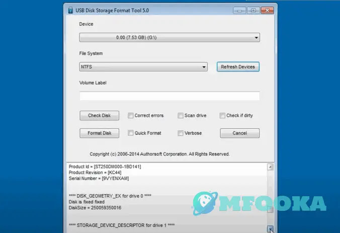 برنامج USB disk storage format tool 6.0