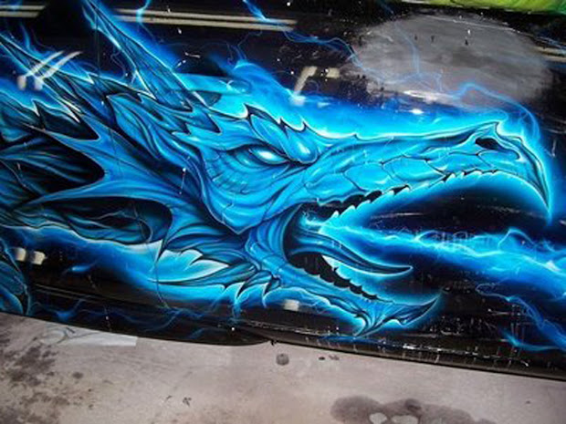 Graffiti 3D Dragon