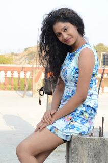 Actress Priyankha Stills in Floral Short Dress at Golmal Gullu Movie Pressmeet 0300.JPG