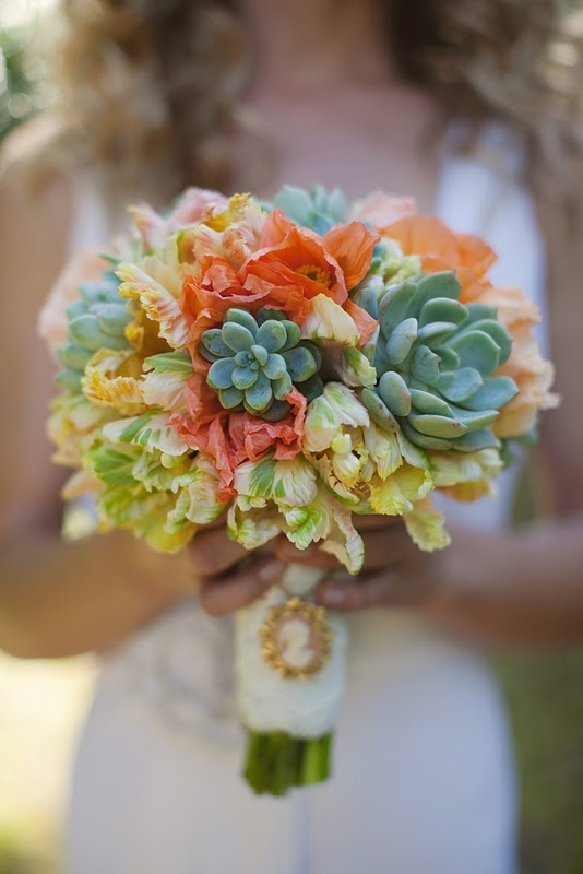 Greer Loves Succulent Wedding Floral Bouquets