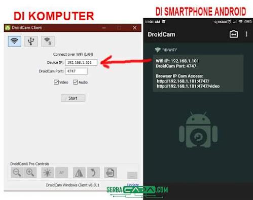Cara Mengubah Smartphone Android sebagai Webcam di PC (Komputer)