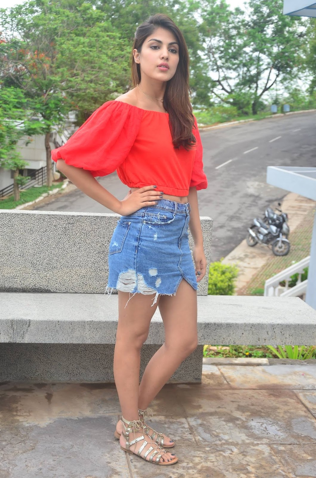 Rhea Chakraborty In Red Top Stunning Spicy Photos