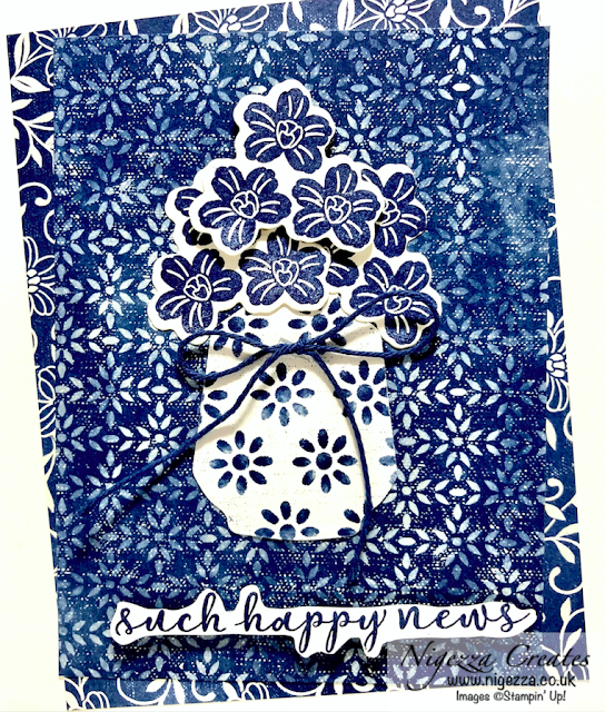 Boho Indigo Layered Card