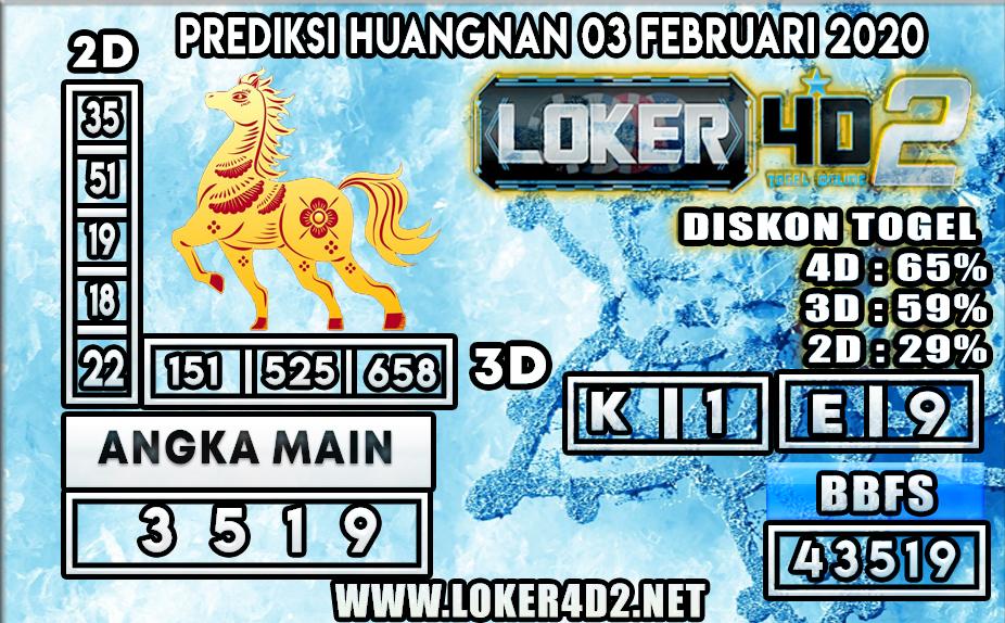 PREDIKSI TOGEL HUANGNAN LOKER4D2 03 FEBRUARI 2020