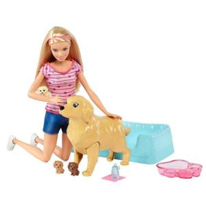 Boneca Barbie Family Loira Filhotinhos Recém-Nascidos Mattel