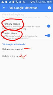 Unlocking android with voice