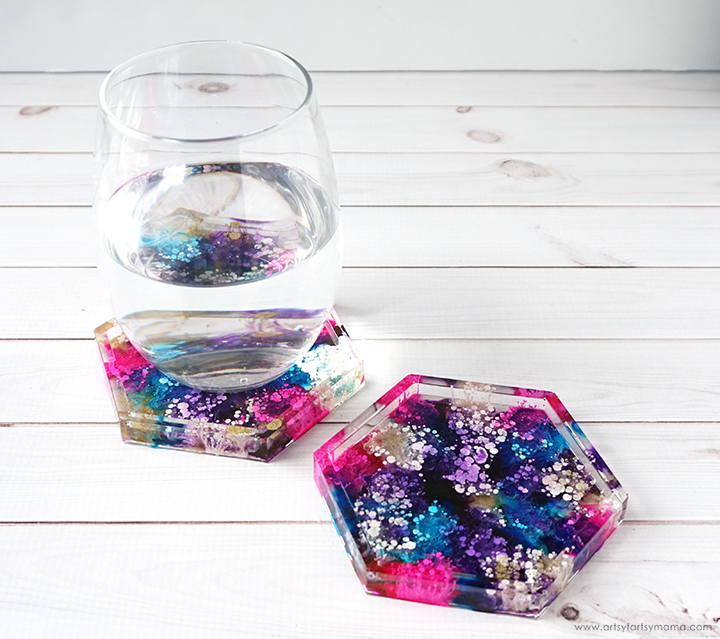 Resin Petri Dish Coasters