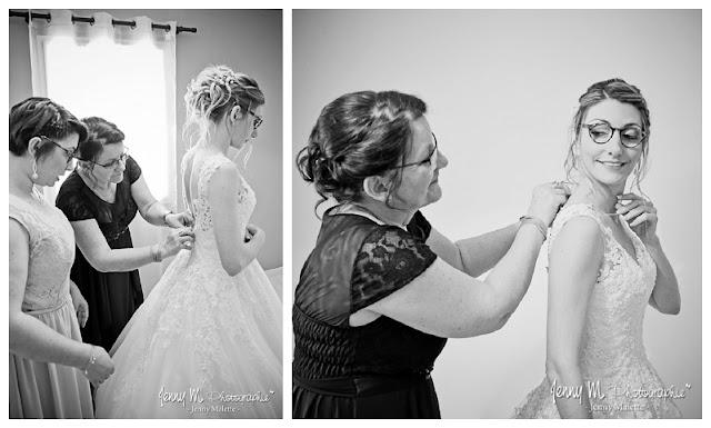 photo habillage de la mariée