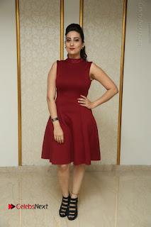 Telugu Tollywood Anchor Manjusha Pos in Red Short Dress  0151.JPG