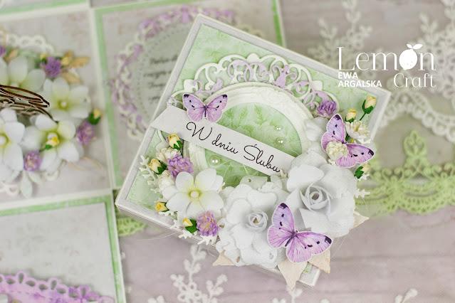 Exploding box na ślub - zobacz ślubny prezent handmade w stylu prowansalskim