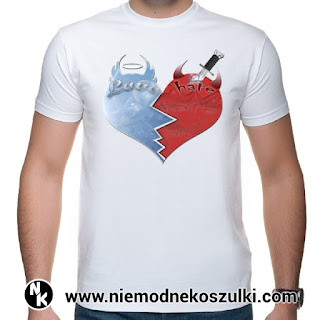 Koszulka Love - hate