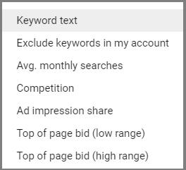 keyword select