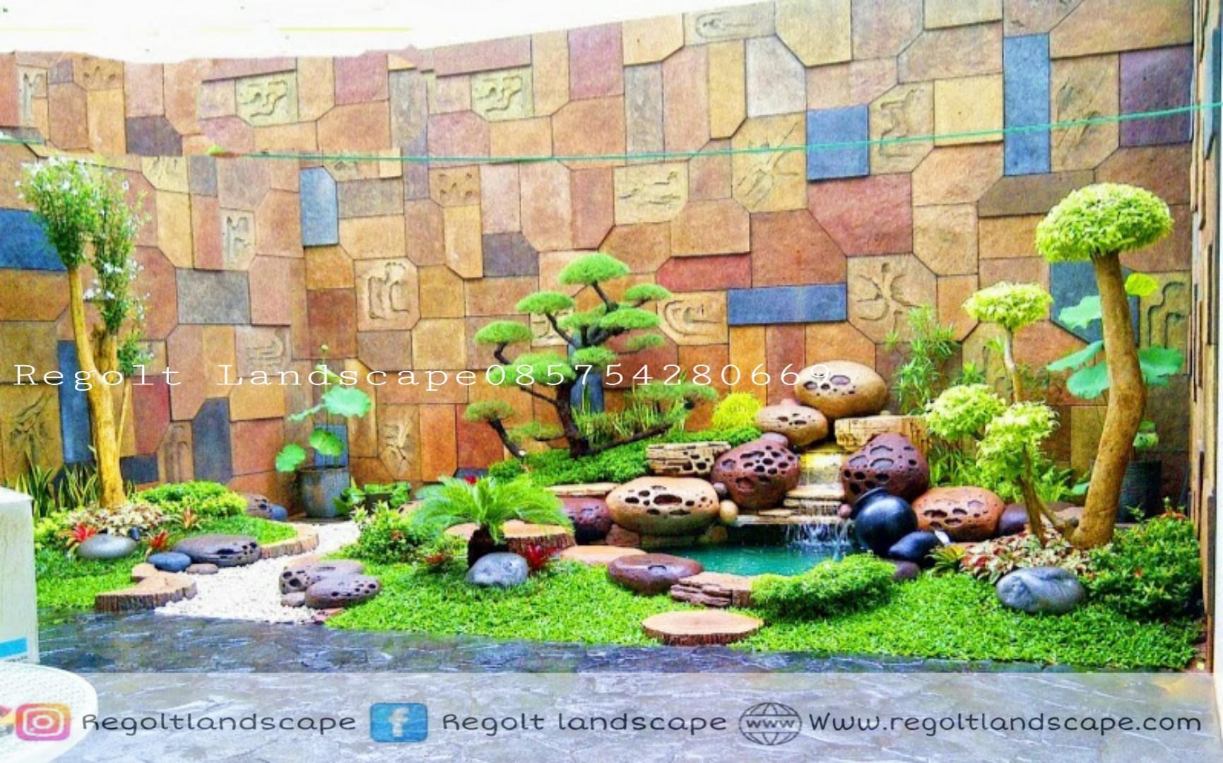 Dekorasi Kolam Tebing