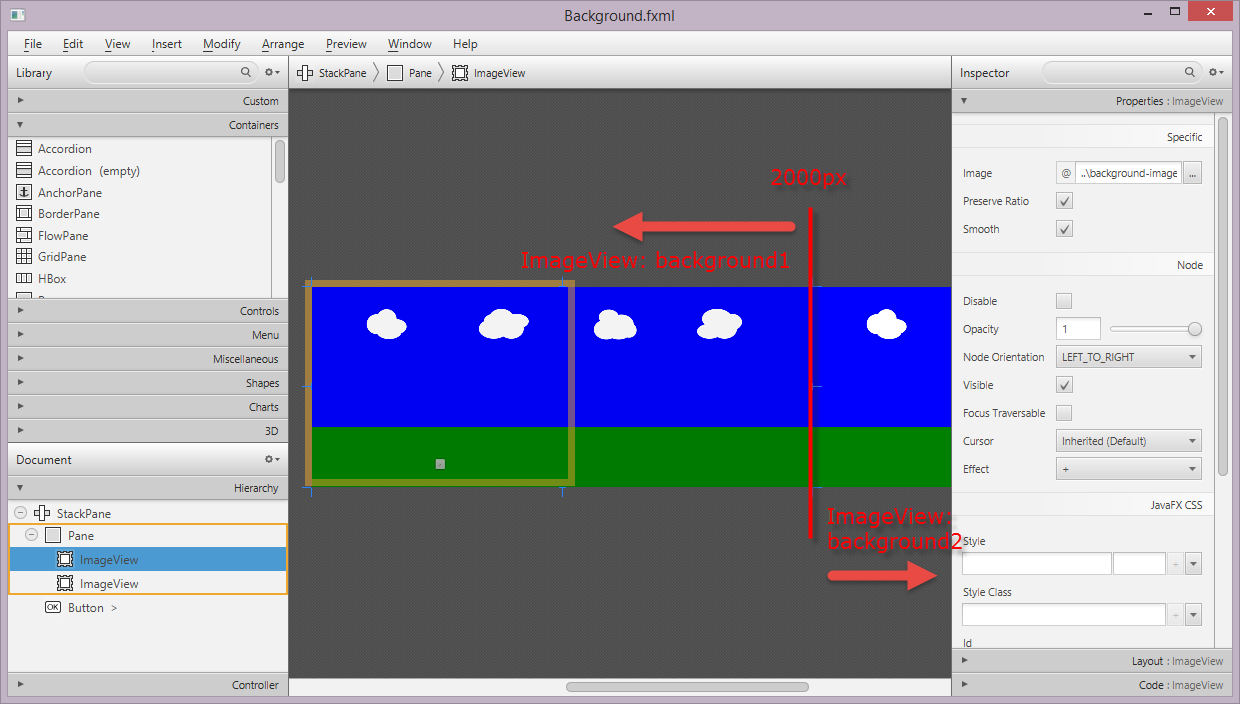 Bekwam Blog: A Looping Background for a Game Using JavaFX