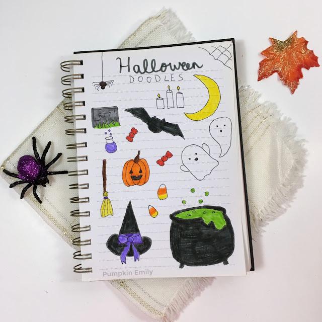 easy Halloween journal doodle ideas