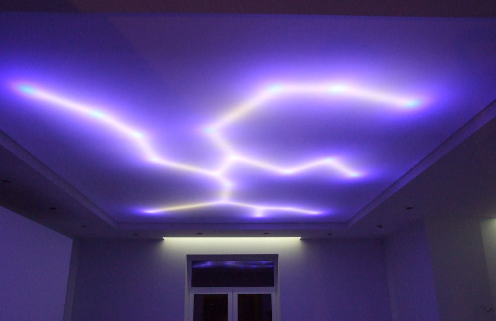 5 ways to install rgb led light strips for false ceilings for Decoration placoplatre