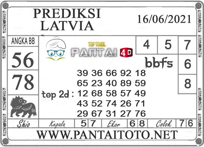 PREDIKSI TOGEL LATVIA PANTAI4D 16 JUNI 2021