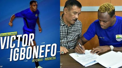 Teken Kontrak Bersama Umuh, Victor Igbonefo Dikontrak 3 Musim & Pilih No Jeysey Saat di Arema