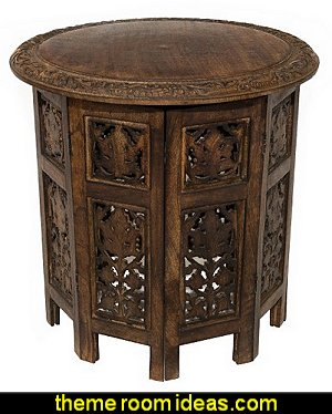 Jaipur Solid Wood Hand Carved Accent Table