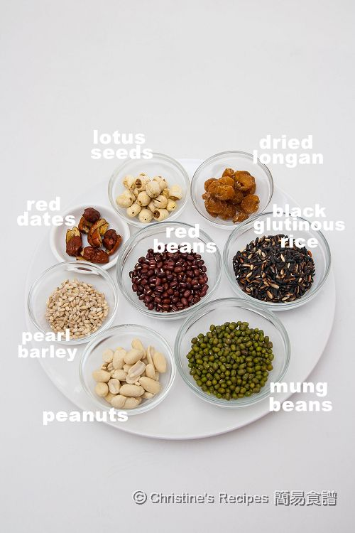 Eight Treasure Porridge Ingredients